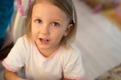 Girl of three years royalty free stock photography