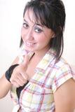 Girl thumb up Royalty Free Stock Image