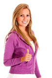 Girl thumb up Royalty Free Stock Photo