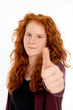Girl with thumb up Royalty Free Stock Photos
