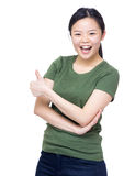 Girl with thumb up Stock Images