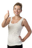 Girl with thumb up Royalty Free Stock Image