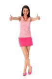 Girl with thumbs up Royalty Free Stock Images
