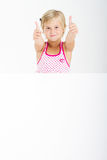 Girl thumbs up Stock Photos