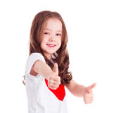 Girl with thumbs up Royalty Free Stock Image