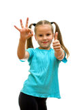Girl with thumbs up. Royalty Free Stock Photo