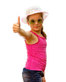 Girl with thumbs up. Stock Image