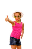 Girl with thumbs up. Stock Photography