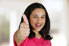 Girl With Thumbs Up Royalty Free Stock Photo