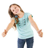 Girl with thumbs up Stock Images