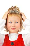 Girl and tiara. Royalty Free Stock Images
