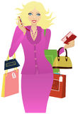 Girl to go shopping Royalty Free Stock Photo