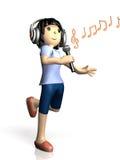 Girl to sing at karaoke Royalty Free Stock Image
