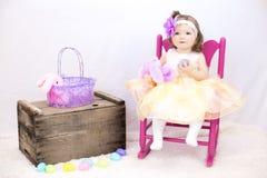 Girl Toddler Basket Royalty Free Stock Photo