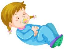 Girl toddler having nap Stock Photography