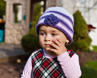 Girl Toddler Wondering Royalty Free Stock Image