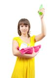 Girl with  toilletries Stock Photo