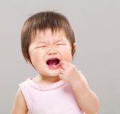 Girl with toothache Stock Images