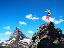Girl on the top Stock Photography