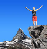 Girl on the top Royalty Free Stock Image