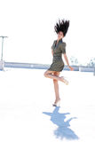 Girl Tossing her Hair Royalty Free Stock Photos