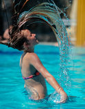 Girl tossing her hair Stock Photo