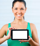 Girl with the TouchPad Stock Photo