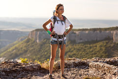 Girl tourist Royalty Free Stock Photography