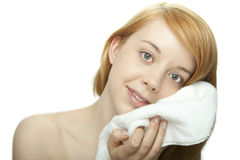Girl with towel Royalty Free Stock Photos