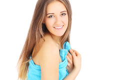 Girl in towel Royalty Free Stock Images