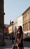 Girl at town, Krakow. Photo #1 Royalty Free Stock Photography