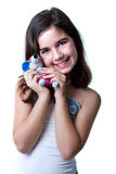 Girl with toy Royalty Free Stock Image