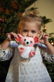 Girl with toy Stock Photo