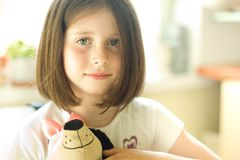 Girl with a toy Stock Photography