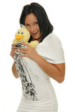 Girl with toy Stock Photography