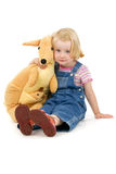 Girl and toy Royalty Free Stock Photo