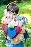 Girl with toy Stock Images
