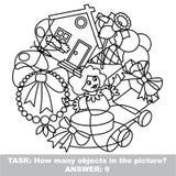 Girl toy mishmash set in vector. Stock Photos
