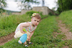 Girl with Toy Stock Image