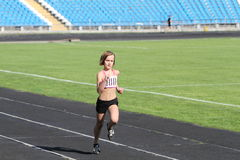 Girl on the track Stock Image