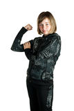 Girl in a tracksuit Stock Image