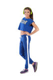 Girl in tracksuit Royalty Free Stock Images