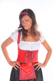 The girl in a traditional Bavarian dress Royalty Free Stock Photos