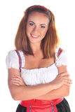 The girl in a traditional Bavarian dress Stock Image
