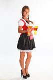 The girl in a traditional Bavarian dress Royalty Free Stock Photography
