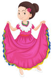 Girl in traditional dress Royalty Free Stock Photography