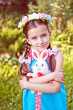 Girl in traditional Russian folk costume. Girl in traditional Russian costume, selective focus Royalty Free Stock Photography