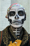 Girl in traditional skull costume in Zombie Walk Sao Paulo Stock Photography