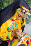 Girl in traditionally berber clothes.