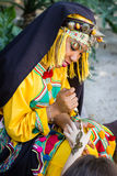 Girl in traditionally berber clothes. Stock Photo